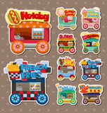 Cartoon market store car stickers Royalty Free Stock Photos
