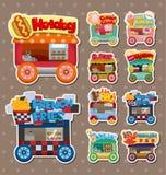 Cartoon market store car stickers stock illustration