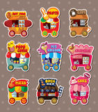 Cartoon market store stickers Royalty Free Stock Photo