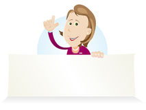 Cartoon Market Woman Vendor Royalty Free Stock Photography