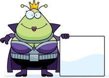 Cartoon Martian Queen Sign Royalty Free Stock Image