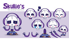 Cartoon Mascot Factory-Skullie's. Cartoon Mascot Factory series with different expressions. You can match the mascot in different mood Royalty Free Stock Images