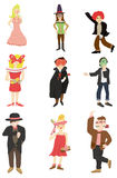 Cartoon mask party icon Stock Image