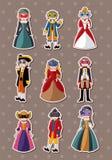 Cartoon mask party stickers Royalty Free Stock Photos