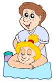 Cartoon massage Royalty Free Stock Photos