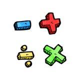 cartoon math symbols Stock Image