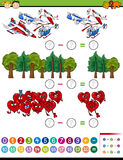 Cartoon math task for kids Royalty Free Stock Images