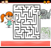Cartoon maze or labyrinth game Stock Photography
