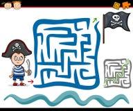 Cartoon maze or labyrinth game Stock Photo