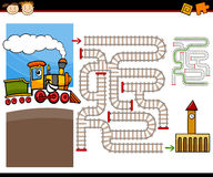 Cartoon maze or labyrinth game Royalty Free Stock Photos
