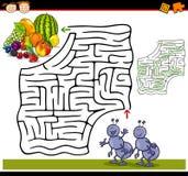 Cartoon maze or labyrinth game Stock Photos