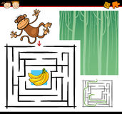 Cartoon maze or labyrinth game Stock Images