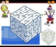 Cartoon maze or labyrinth game vector illustration
