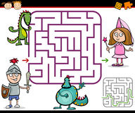 Cartoon maze or labyrinth game Stock Photos