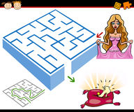 Cartoon maze or labyrinth game Stock Image