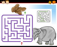 Free Cartoon Maze Or Labyrinth Game Stock Photos - 38318293