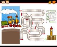 Cartoon Maze Or Labyrinth Game Royalty Free Stock Photos