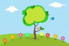 Cartoon meadow background Royalty Free Stock Image