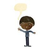 Cartoon mean man with speech bubble Stock Photos