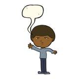 Cartoon mean man with speech bubble Royalty Free Stock Photos