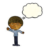 Cartoon mean man with thought bubble Royalty Free Stock Photography