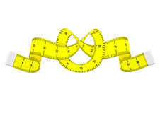 Cartoon measuring tape Royalty Free Stock Images