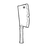 Cartoon meat cleaver Stock Photography