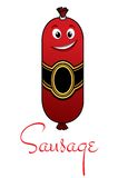 Cartoon meaty sausage Royalty Free Stock Photography