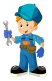Cartoon mechanic - boy Royalty Free Stock Image