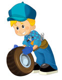 Cartoon mechanic - boy Royalty Free Stock Images