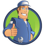 Cartoon mechanic Stock Photography