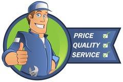 Cartoon mechanic Stock Image