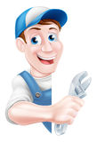 Cartoon Mechanic Plumber Man Stock Photo
