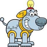 Cartoon mechanical dog. Cartoon illustration of a mechanical dog Stock Images