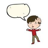 Cartoon medical emergency with speech bubble Royalty Free Stock Photo