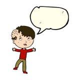 Cartoon medical emergency with speech bubble Stock Photos