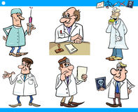Cartoon medical staff characters set Stock Image