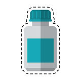 Cartoon medicine bottle capsule icon Stock Photography