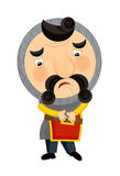 Cartoon medieval character - nobleman - isolated Royalty Free Stock Images
