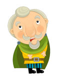 Cartoon medieval character - nobleman - isolated Stock Photography