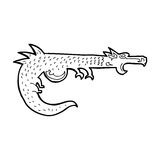 Cartoon medieval dragon Stock Image