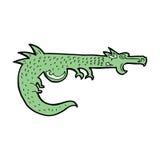 Cartoon medieval dragon Royalty Free Stock Photo