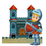 The cartoon medieval illustration for the children - title page - misc usage Royalty Free Stock Photo