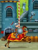 The cartoon medieval illustration Royalty Free Stock Images