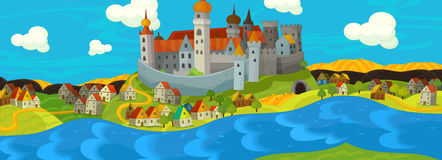 Cartoon medieval illustration Royalty Free Stock Images