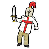Cartoon medieval knight Stock Photos