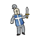 Cartoon medieval knight Royalty Free Stock Photography