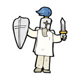 Cartoon medieval knight Stock Images