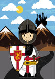 Cartoon Medieval knight Royalty Free Stock Images