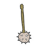Cartoon medieval mace Royalty Free Stock Photography